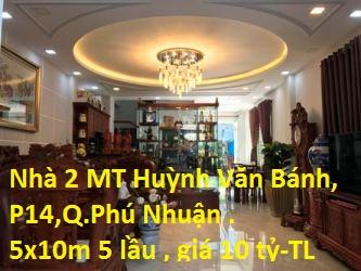 Bán Nhà 2 Mặt Tiền HXH Số 420/16A Huỳnh Văn Bánh, Phường 14, Quận Phú Nhuận