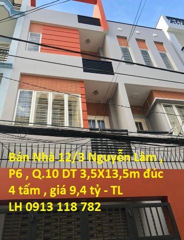 Bán Hoặc Cho Thuê nhà Hẻm 4,5m Đường Nguyễn Lâm ,p6, Quận 10
