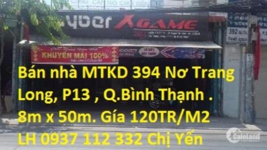 Nhà MT Nơ Trang Long,P13,Q. Bình Thạnh