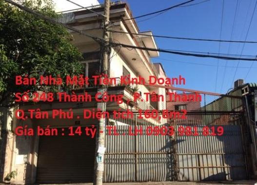 Bán Nhà MTKD Số 248 Thành Công , P. Tân Thành , Quận Tân Phú