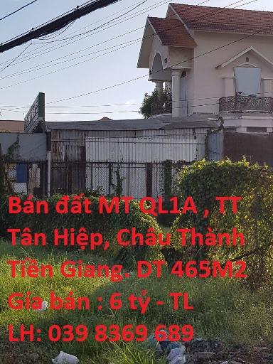 Chính chủ cần bán đất đẹp mặt tiền Quốc lộ 1, thị trấn Tân Hiệp, huyện Châu Thành, tỉnh Tiền Giang