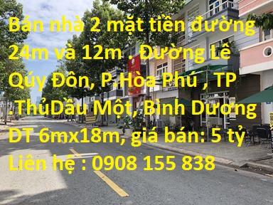 Đường Lê Qúy Đôn , P.Hòa Phú , TP Thủ Dầu Một , T.Bình Dương