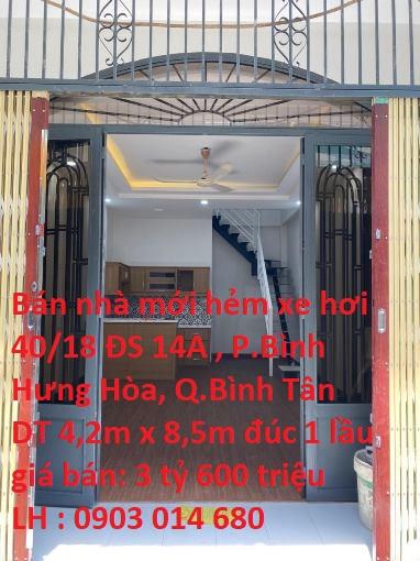Nhà Bán HXH Số 40/18 Đường Số 14A,KP3, P. Bình Hưng Hòa A , Quận Bình Tân