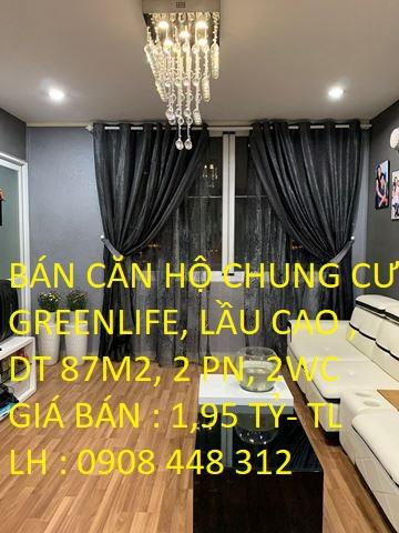 Bán Căn Hộ KDC GreenLife Lầu Cao DT 87m2 View Đẹp  Số 13C Nguyễn Văn Linh, Phong Phú,  Bình Chánh
