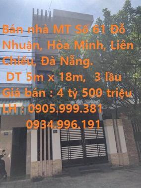 Bán Nhà MT Số 61 Đỗ Nhuận - Hoà Minh - Quận Liên Chiểu - Đà Nẵng