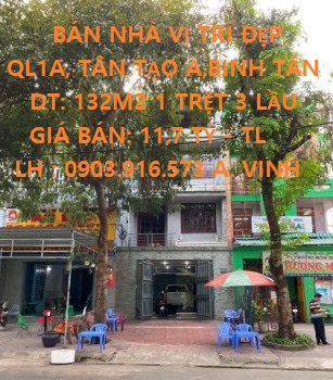 Chính Chủ Cần Bán Căn Nhà Vị Trí Đẹp Tại Quận Bình Tân, TP Hồ Chí Minh.