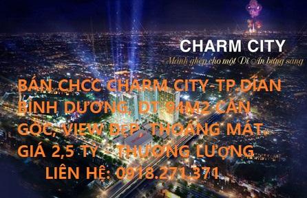 Chính Chủ Bán 2 Căn Góc Chung cư Charm City,TP. Dĩ An, Bình Dương. DT 94m2, 3PN.